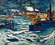Maurice_de_Vlaminck,_1905-06,_Barges_on_the_Seine